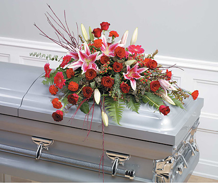Soft Reflections Casket Arrangement
