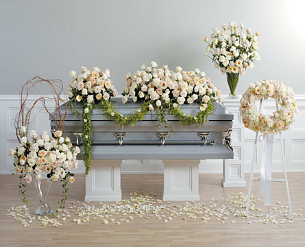 Memory Suite Casket Spray Wreath and Arrangements
