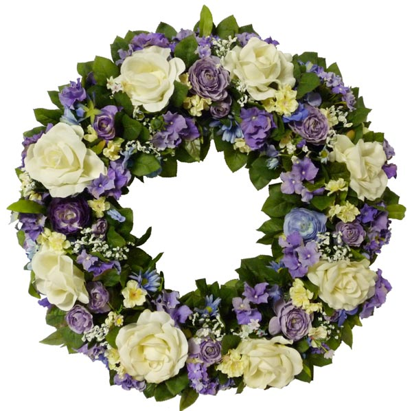 Sofia florist artificial flowers plants flowers delivery sofia purple white silk wreath mightylinksfo